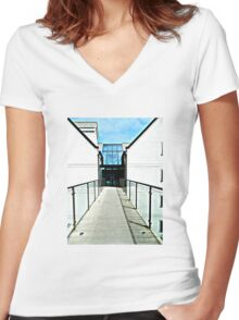 Pathway Women's Fitted V-Neck T-Shirt