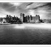 Ashford Castle in Blabk and White by alanoluain