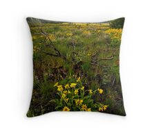 Idaho Wildflowers Throw Pillow