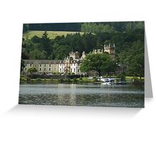 Cameron House Hotel & Country Club Loch Lomond & Seaplane Greeting Card