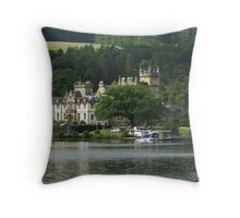 Cameron House Hotel & Country Club Loch Lomond & Seaplane Throw Pillow