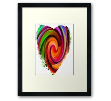 Electric Heart-Available As Art Prints-Mugs,Cases,Duvets,T Shirts,Stickers,etc Framed Print