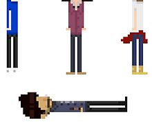 One Direction Pixel Sticker Pack by pinkeyyou