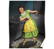 Kitty Dances in the Kitchen Poster