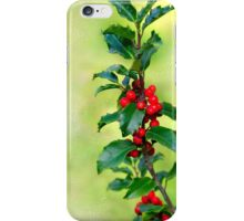 Holly Branch  iPhone Case/Skin