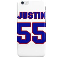 National football player Justin Hickman jersey 55 iPhone Case/Skin