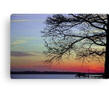 Sunset Branches Canvas Print