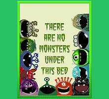 No Monsters Under the Bed Duvet by Amy Hadden