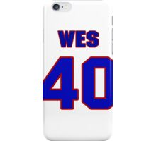 National football player Wes Ours jersey 40 iPhone Case/Skin