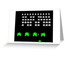 Space invaders Greeting Card