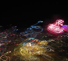 Fireworks in the night sky by fotobetty