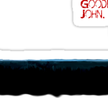 Sherlock: Goodbye John Sticker