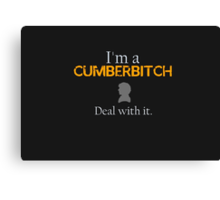Deal with it: Benedict Cumberbatch Canvas Print