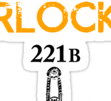 Deal with it: Sherlock Holmes Sticker