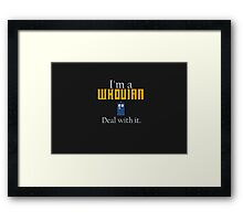 Deal with it: Doctor Who Framed Print