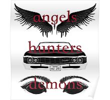 Angels, Hunters, & Demons (Words) Poster
