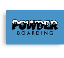 Powder Boarding Canvas Print