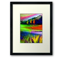 Caught In A Rainbow Framed Print