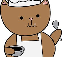 Chef Cat Kitty by ValeriesGallery