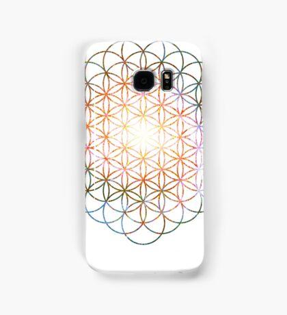 Pinwheel [Vibrant Double Flower] Flower of Life | Sacred Geometry Samsung Galaxy Case/Skin