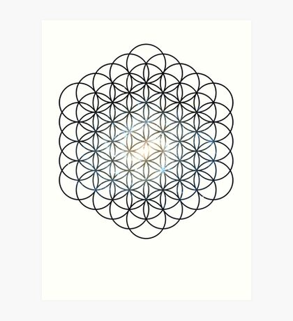 The Lost Galaxy Flower of Life | Sacred Geometry Art Print