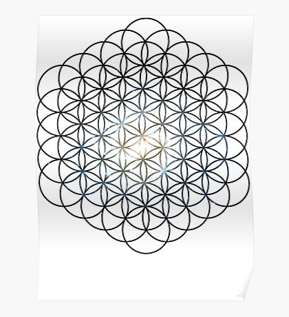 The Lost Galaxy Flower of Life   Sacred Geometry Poster