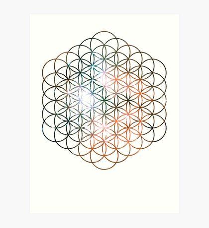 Kid Cudi Galaxy [Red] Flower of Life | Sacred Geometry Art Print