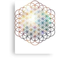 Heart of Orion Flower of Life   Sacred Geometry Canvas Print
