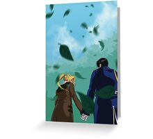 Edward and Roy out for a walk Greeting Card