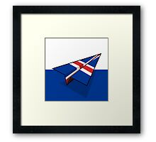 Paper Airplane 97 Framed Print