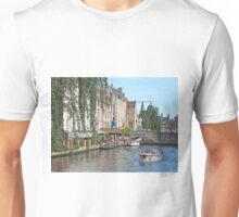 On the Dyver Canal in Bruges Unisex T-Shirt