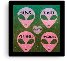 roswell royal four tv show aliens earth names Canvas Print