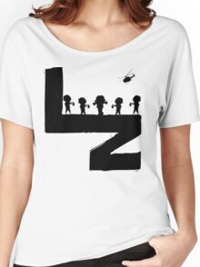 Black Lurk Zone Logo - White Background Women's Relaxed Fit T-Shirt