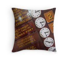 Kandy Clocks Throw Pillow