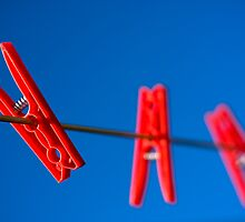 Three Red Pegs by Tim Smith