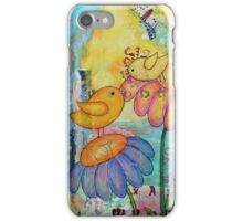 Birds in a Flower Garden  iPhone Case/Skin