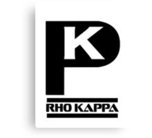 Rho Kappa Shirt Logo 2 Canvas Print