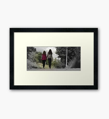 Friendship cartoon Framed Print