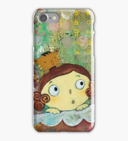Girl and Cat  iPhone Case/Skin