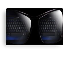 COMPUTER KEYBOARD VISIONS PICTURE AND OR CARD Canvas Print