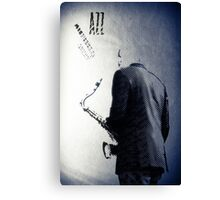 Saxophonist. Jazz Club Poster Canvas Print