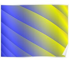 Blue & Yellow Spiral Column Poster