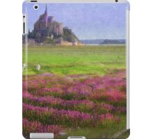 mont st. michel flowers and grazing sheep iPad Case/Skin
