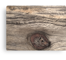 Old Weathered Wood with Knot Canvas Print