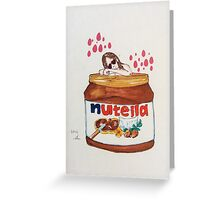In Nutella (fall in love) Greeting Card