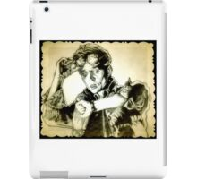 Back to the future drawing iPad Case/Skin