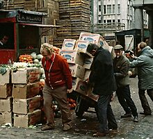 """A Helping Hand"", Covent Garden Market, London, 1973. by David A. L. Davies"