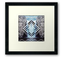 Waterfall Polyscape Framed Print