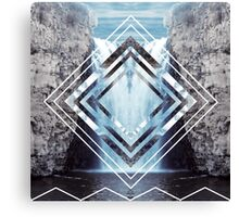 Waterfall Polyscape Canvas Print