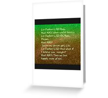 roswell tv show happily ever after Greeting Card